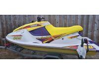Yamaha wave blaster 11 760cc jetski . Comes with trailer and electrics. jet ski boat