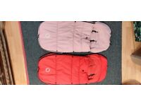Bugaboo Footmuff soft pink or red
