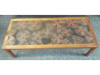 mid century retro tiled coffee table