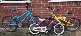 For kids aged from 5 years to 12 years. All good make and have been stored in garage.