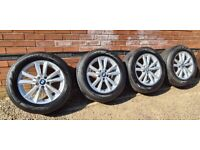 """Genuine BMW X5 Style 446 18"""" Alloy Wheels Great Condition and tyres X6"""