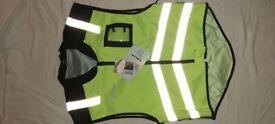 Sleeveless motorbike safety jacket