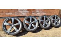 """Genuine Audi Rotor 21"""" Concave Alloy Wheels 4H0601025AT A6 A7 A8 S6 S7 S8"""