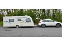 Immaculate car and caravan