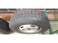 Transit mk 6 or mk 7 fwd swb wheels and tyres