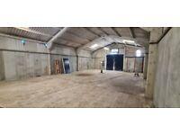1500 square ft workshop car garage unit for rent breakers/motor trade