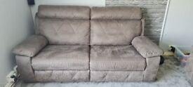 large grey 7 piece corner sofa