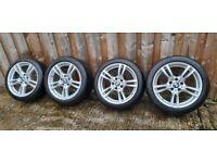 Bmw msport alloy wheels 5 double spoke 18 inch 5x120 fitment not 17 19