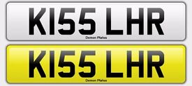 KISS/ London heathrow Private registration cherished number plate