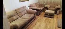DFS saxon sofa set with storage footstool