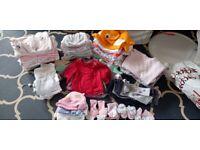 Newborn baby girls' clothes