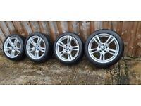 BMW Msport alloy wheels 5 double spoke 18 inch 5x120 fitmentnot 17 19