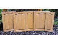 Kitchen Cupboard Doors in Solid Oak