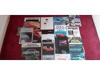 Selection Of 90s Car Sales Brochures