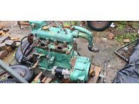 Mercedes OM636 diesel inboard engine. shown running. ADD picture is old pic.