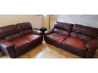 Leather Sofas - collection only
