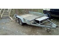 10x6 plant,digger trailer (like ifor williams)