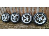 Bmw msport alloy wheels 18 inch 5x120 fitment not 17 19. 5 double spokes
