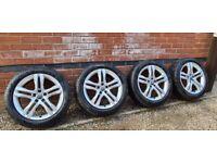 """Immaculate Genuine Audi 18"""" Alloy Wheels Pirelli A4 Allroad A6 A5 8W9601025B"""