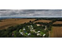 Caravan pitches available £22 per night