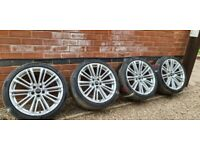 "Genuine Audi S5 S4 19"" S Line Alloy Wheels 8W0601025CC A4 A5 A6 S6 5x112"