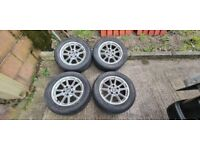 BMW 5 Series E39 16 Inch Alloy Wheels Plus Tyres 5x120 Fitment