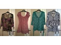 All clothing size 12, Per Una sheer/lace tops x 4 off £15, Atmosphere Dresses x 6 off £15