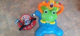 Bounce Frog and Paw Patrol toy