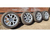 """Genuine BMW X5 Style 257 19"""" Alloy Wheels Great Condition and tyres X6"""