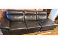 Large black settee