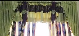 Curtains with swag