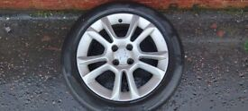 VAUXHALL CORSA D 16INCH ALLOYS AND TYRES £100