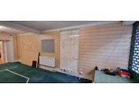 Slatwall boards assorted
