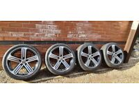 "Genuine Volkswagen Cadiz 18"" Alloy Wheels Golf GTD GTI Caddy 5x112 5G0601025DQ"