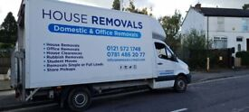 Removals, men and van for hire, house removals & clearance office removals, rubbish removal clearanc
