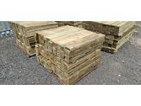Timber fence slats