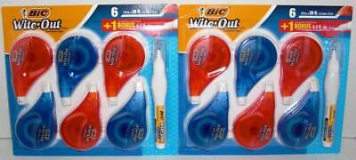 Bic Wite Out 12 Ez Correction Tape And 2 Shake N Squeeze Correction Pen Lqqk