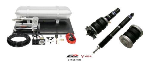 D2 Air Struts + Vera Basic Air Suspension For 2012+ Honda Civic Sedan Coupe