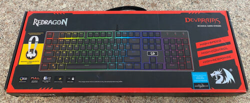 New DEVARAJAS RedDragon K556 RGB Mechanical Gaming Keyboard 104 Standard Keys