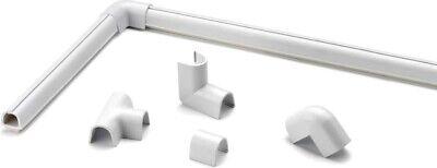 Organizador de Cables Abrazadera 10.5x10mm Esquina Uniones Soporte Blanco inofiX