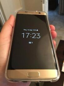 Samsung Galaxy S7 Edge 32GB in Gold 5.5inch 4GB RAM As New condition