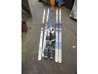 cross country skis with boots size 40 + 41