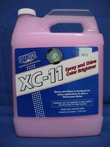 Spray and shine color brightener perfect for car,airplane & boat