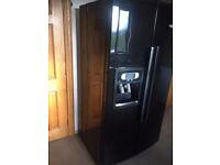 Whirlpool American fridge freezer with digital display