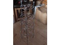 Chrome pan holder - 5 tiers