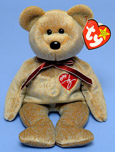 1999 Signature Bear Ty Beanie Baby stuffed animal