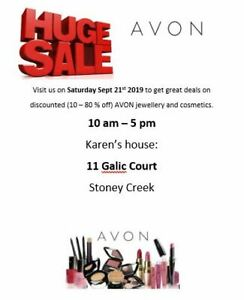 HUGE outdoor Avon sale