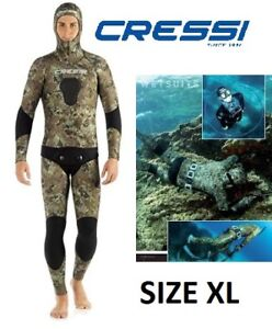 NEW CRESSI TECNICA 5MM FREE DIVING SPEARFISHING MIMETIC WETSUIT