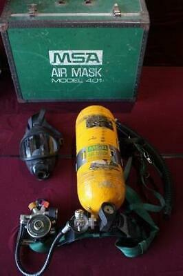 Msa Air Mask 401 Scba Harness W Regulator Demand Valve Box Tank Trunk