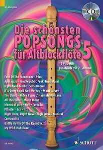 POP SONGS •Pflaster - Ich+Ich•• Alt-Blockflöte Noten+CD
